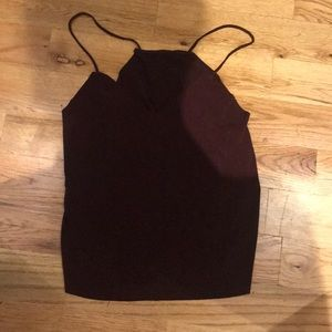 Brandy Melville Maroon Going-Out Top